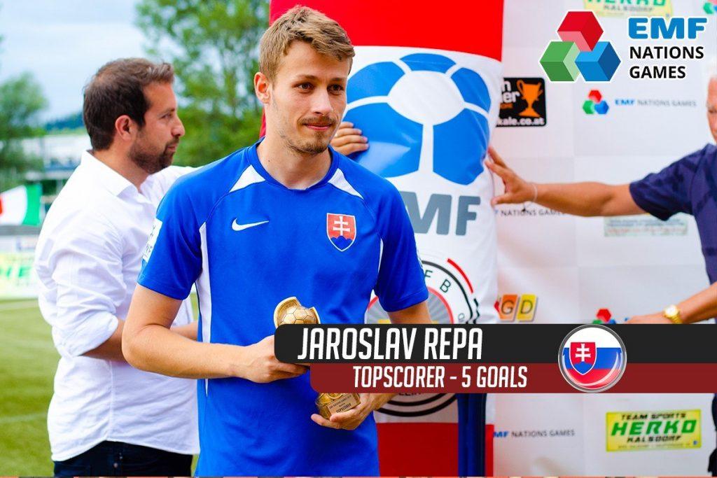 jaroslav repa ako najlepsi strelec v malom futbale